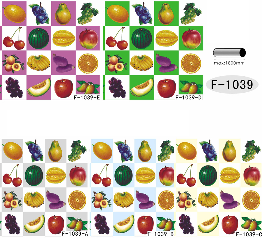 Table Cover - Printed Table Cover - Fruits Series Table Cover - F-1039