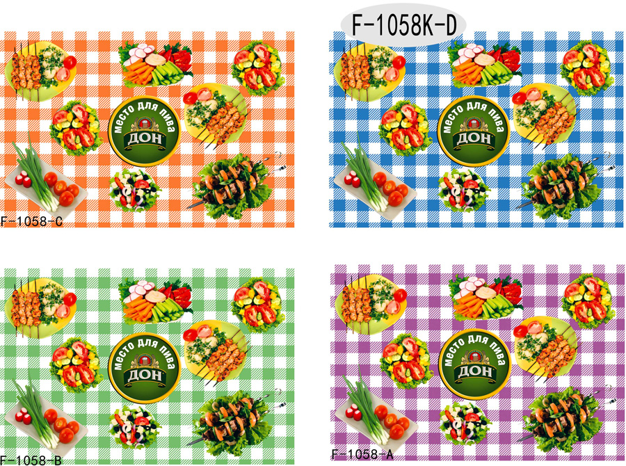 Table Cover - Printed Table Cover - Food、Animal、Plant Table Cover - F-1058