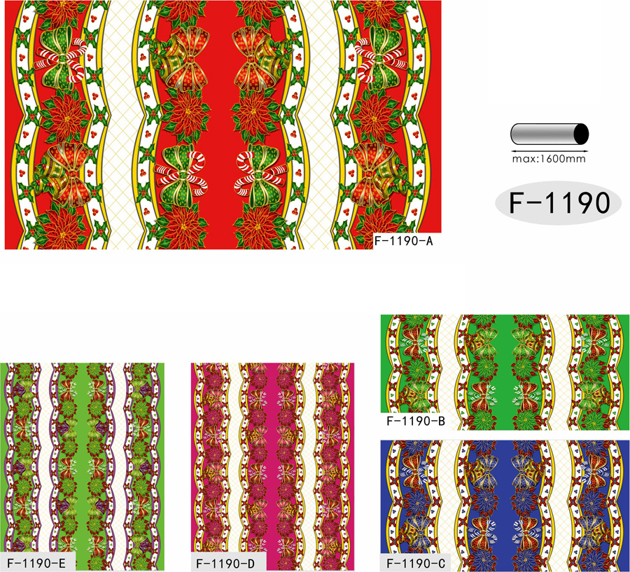 Table Cover - Printed Table Cover - Christmas Series Table Cover - F-1190