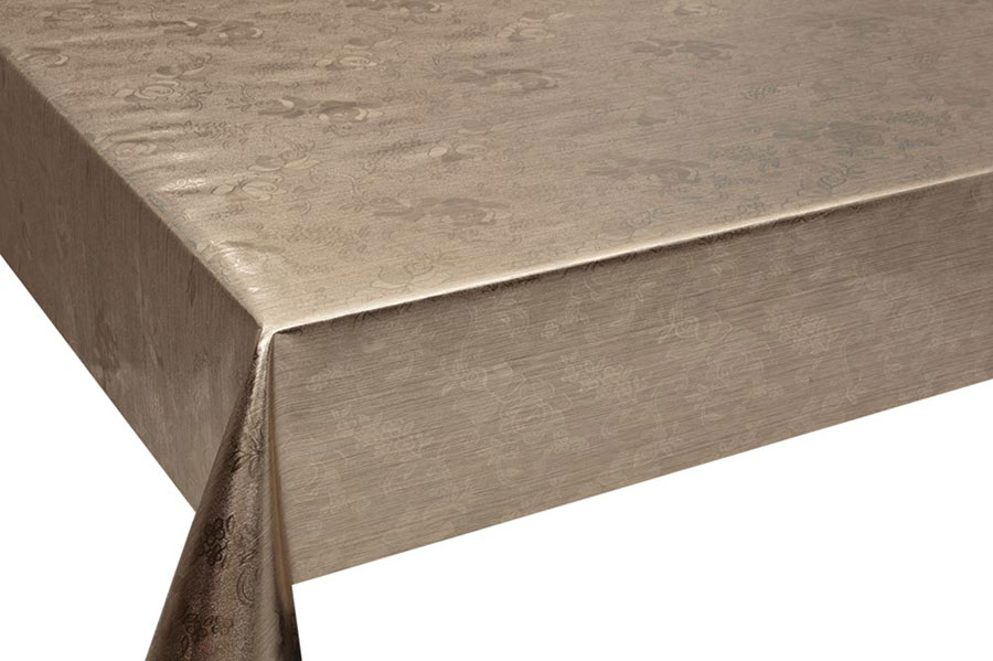 Table Cover - Gold Or Silver Table Cover - Emboss With Spunlace Backing Table Cover - F5010-3