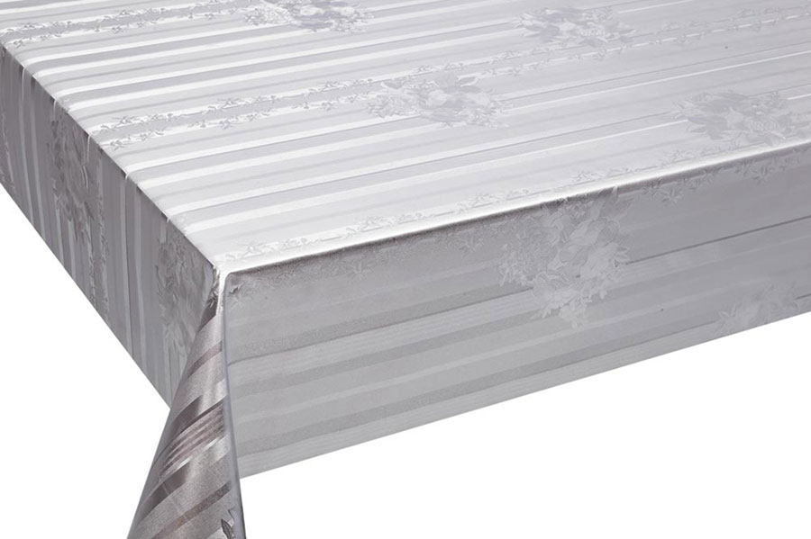 Table Cover - Gold Or Silver Table Cover - Emboss With Spunlace Backing Table Cover - F5011-1