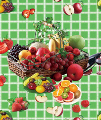 Table Cover - Printed Table Cover - Fruits Series Table Cover - F-1112