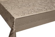 Table Cover - Gold Or Silver Table Cover - Emboss With Spunlace Backing Table Cover - F5003-3