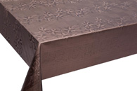 Table Cover - Gold Or Silver Table Cover - Emboss With Spunlace Backing Table Cover - F5003-6