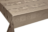 Table Cover - Gold Or Silver Table Cover - Emboss With Spunlace Backing Table Cover - F5005-3