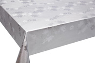 Table Cover - Gold Or Silver Table Cover - Emboss With Spunlace Backing Table Cover - F5016-1