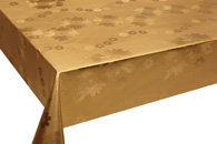 Table Cover - Gold Or Silver Table Cover - Emboss With Spunlace Backing Table Cover - F5016