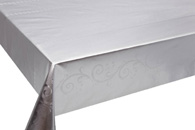 Table Cover - Gold Or Silver Table Cover - Emboss With Spunlace Backing Table Cover - F5023-1