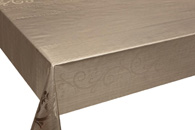 Table Cover - Gold Or Silver Table Cover - Emboss With Spunlace Backing Table Cover - F5023-3
